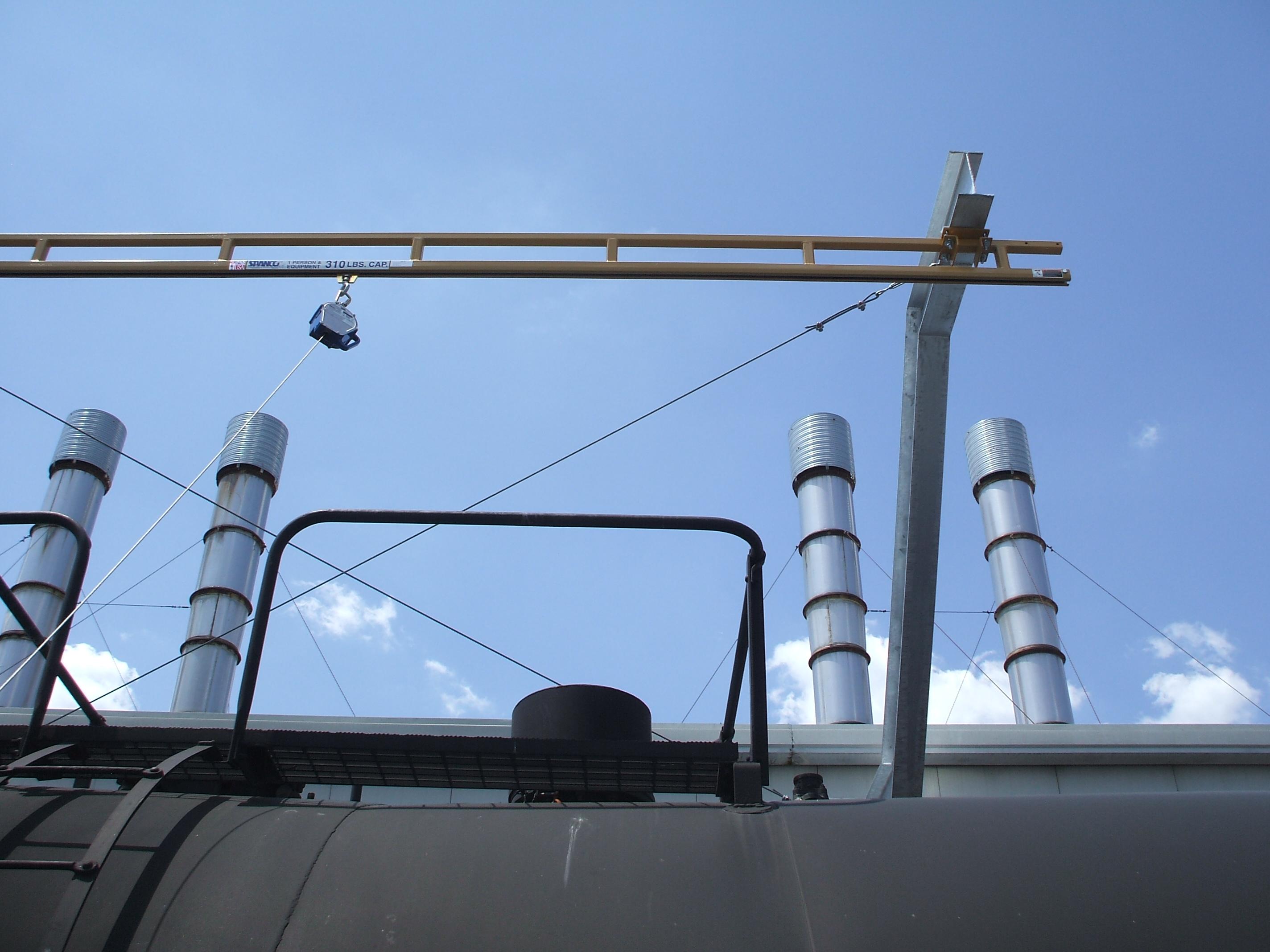 Railcar Rigid Rail & Self-Retracting Lifeline, Engineering ...